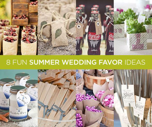 BashBLOK 8 Summer Wedding Favor Ideas